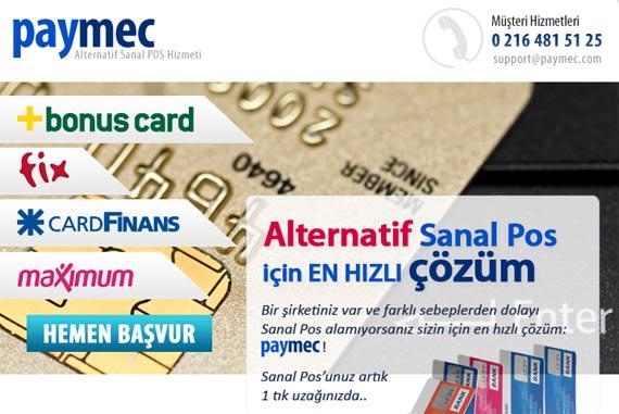 Paymec Odeme Maximum Card Entegrasyonu Gerceklestirilmistir